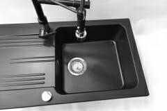 Zlewozmywak granitowy model ADA - cały czarny