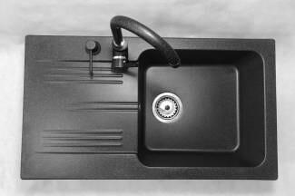 Zlewozmywak granitowy model ADA - Czarny nakrapiany