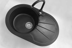 Bateria kuchenna AGLO - Cała czarna