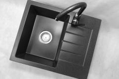 Bateria kuchenna AGLO - Czarna nakrapiana
