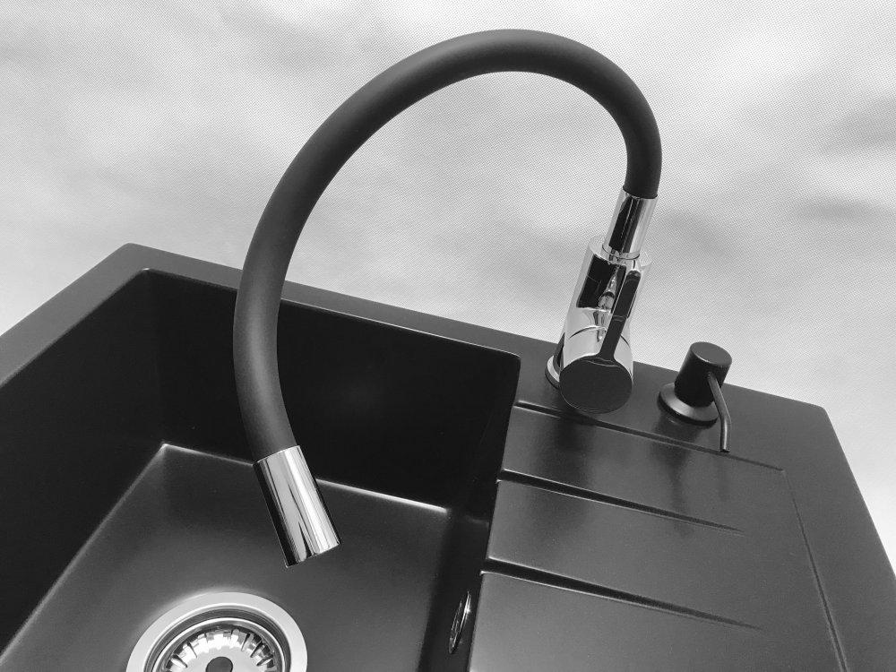 Bateria Kuchenna Flex.Bateria Kuchenna Flex Elastyczna Czarna Granitan Wyposazenie Dla Kuchni I Lazienki