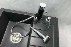 Bateria kuchenna HAMMER - Czarna nakrapiana