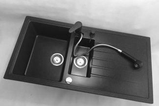 Bateria kuchenna HAND – Czarna nakrapiana
