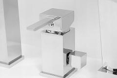 Bateria wannowa CARO 3-otworowa - Chrom wysoki połysk