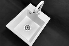 Zlewozmywak granitowy model BEST - Biały