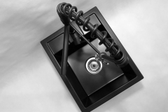 Zlewozmywak granitowy model BEST - Cały czarny