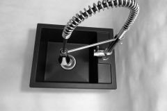 Zlewozmywak granitowy model BEST - Czarny nakrapiany