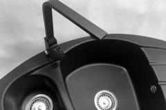 Zlewozmywak granitowy model Compact - Cały czarny