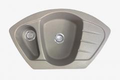 Zlewozmywak granitowy model Compact - Ciemny beż / Brązowy