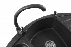Zlewozmywak granitowy model Compact - Czarny nakrapiany