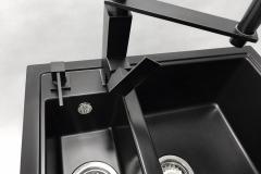 Zlewozmywak granitowy model KOS - Cały czarny