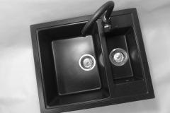 Zlewozmywak granitowy model KOS - Czarny nakrapiany