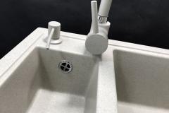 Zlewozmywak granitowy model KOS - Jasny beż