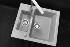 Zlewozmywak granitowy model KOS - Szary
