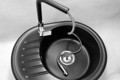 Bateria kuchenna LINEA - Cała czarna
