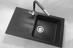 Bateria kuchenna LINEA - Czarna nakrapiana