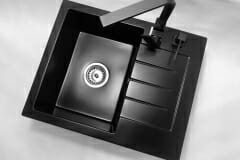Zlewozmywak granitowy model MILANO - Cały czarny