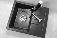 Zlewozmywak granitowy model MILANO - Czarny nakrapiany