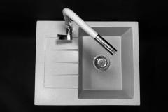Zlewozmywak granitowy model MILANO - Szary