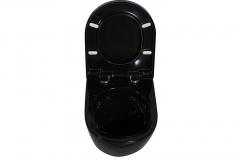 Miska WC podwieszana PRIMO BLACK + Deska