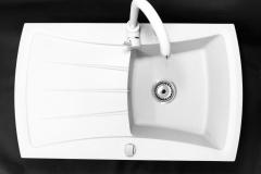 Zlewozmywak granitowy model NEW LINE - Biały