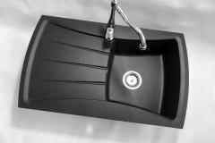 Zlewozmywak granitowy model NEW LINE - Czarny nakrapiany