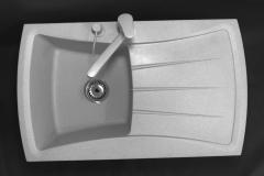 Zlewozmywak granitowy model NEW LINE - Szary