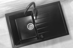 Bateria kuchenna RIO - Czarna nakrapiana