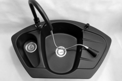 Bateria kuchenna SNAKE - Cała czarna
