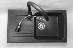 Bateria kuchenna SNAKE - Czarna nakrapiana