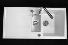 Zlewozmywak granitowy model SOLARIS - Biały