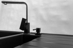 Zlewozmywak granitowy model SOLARIS - Cały czarny