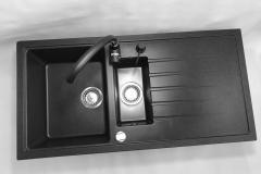 Zlewozmywak granitowy model SOLARIS - Czarny nakrapiany