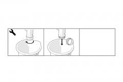 Syfon przyścienny manualny dwukomorowy ? Wersja Prestige