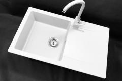 Zlewozmywak granitowy model TRENDY - Biały