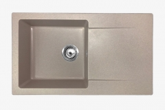 Zlewozmywak granitowy model TRENDY - Ciemny beż / Brązowy