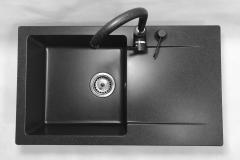 Zlewozmywak granitowy model TRENDY - Czarny nakrapiany