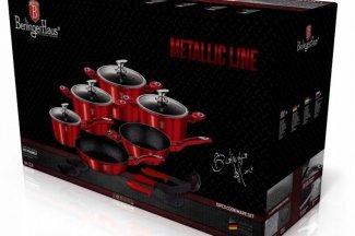 Zestaw garnków BERLINGER HAUS RED METALLIC - 9 elementów