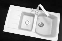 Zlewozmywak granitowy model MASTER - Biały