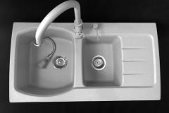 Zlewozmywak granitowy model MASTER - Szary