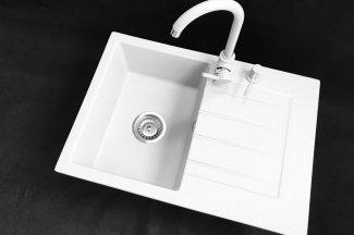 Zlewozmywak granitowy model STYL - Biały