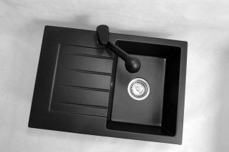 Zlewozmywak granitowy model STYL - Cały czarny