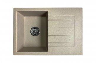 Zlewozmywak granitowy model STYL - Ciemny beż / Brązowy