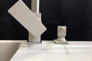 Zlewozmywak granitowy model STYL - Jasny beż
