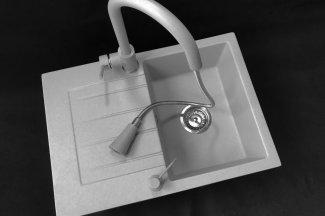 Zlewozmywak granitowy model STYL - Szary