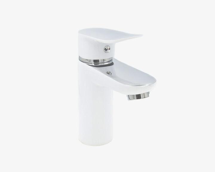 Bateria umywalkowa SKY – Chrom / Biała