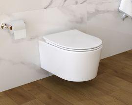 Miska WC podwieszana DUO RIMLESS + Deska wolnoopadająca Evora Easy Clean
